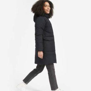 Everlane Black Long Puffer Jacket